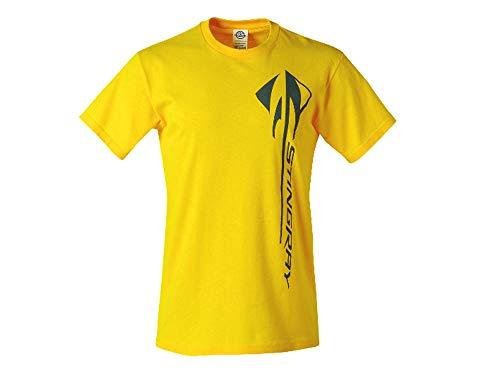 Corvette C7 Stingray Vertical Yellow T-Shirt (Medium)