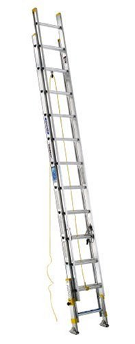 werner-d18242eq-equalizer-250-pound-duty-rating-aluminum-extension-ladder-with-integrated-leveling-s