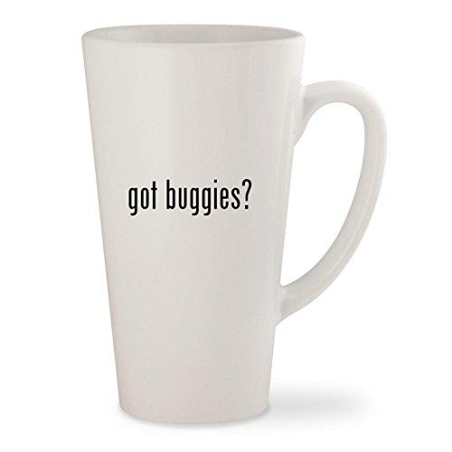 got buggies? - White 17oz Ceramic Latte Mug Cup (Buggy Around Pink Push)