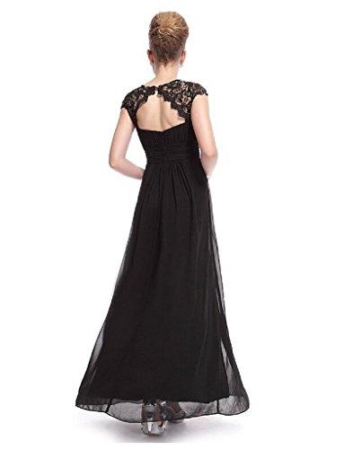 Frauen rmelloses Casual S f¨¹r Anlass elegante Kleid Schwarz Black Partei g1qrg