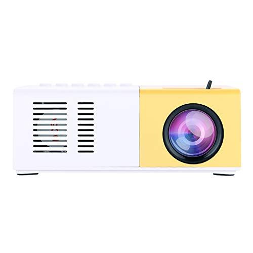 Garsent Mini thuisbioscoop, draagbare HD 1080P LED video projector, 30.000 uur levensduur beamer, ondersteunt HDMI/VGA…
