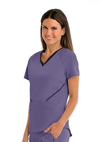 Grey's Anatomy Impact GIT007 Women's Elite Scrub Top Iris Glaze XS