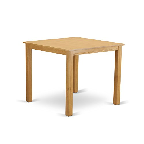 East West Furniture CFT-OAK-T Counter Height Square Table, Natural Oak Finish