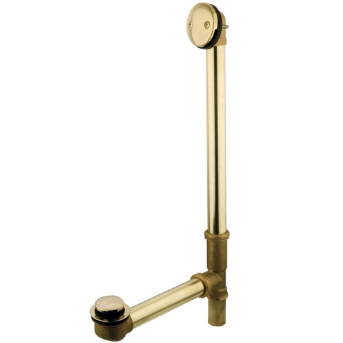 Kingston Brass DTT2182 Tip-Toe Bath Tub Drain and Overflow, Polished Brass