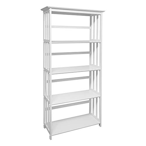 (Casual Home 310-61 Mission Style 5-Shelf White)