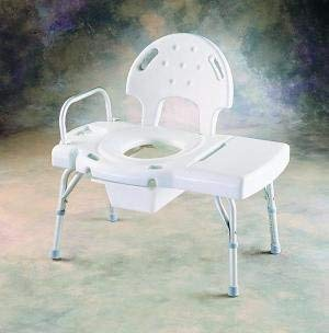 (INV9670C - I-Class Heavy-Duty Transfer Bench with Rail, Commode Opening and Pail)