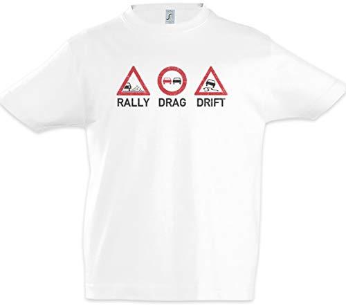 Urban Backwoods Rally Drag Drift Kids Boys Children T-Shirt White