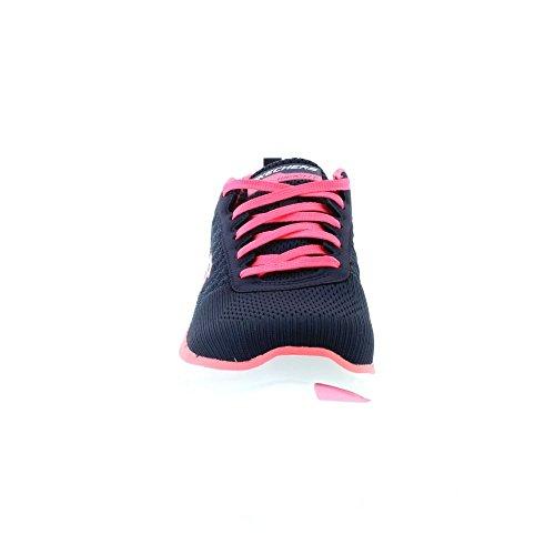 Skechers Sport Women's Flex Appeal 2.0 Fashion Sneaker, Navy/Hot Pink, 10 M US by Skechers Sport Women's (Image #3)