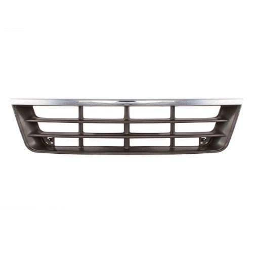CarPartsDepot Van Grill Grille Front Chrome / Dark Gray Assembly Fo1200180 F2Uz8200A ()