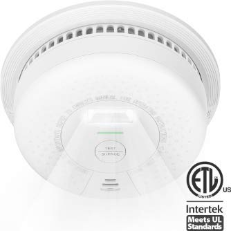 X-Sense Smoke Detector 10 Year Battery Operated, with Escape Light, Compliant with UL 217 Standard, Better Photoelectric Sensor for Preventing False Alarms