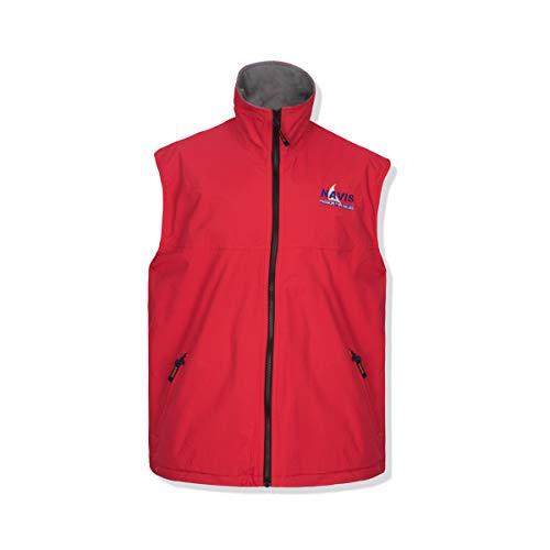 Navis Marine Men's Crew Sailing Vest Fleece Lined Waterproof Windproof Breathable (Red, Medium) ()