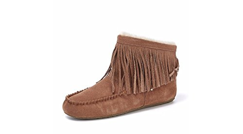 Chestnut Boot Ankle EMU W11272 Slippers 6 EUR UK Fringed 39 Cayote UxqTAwFTY6
