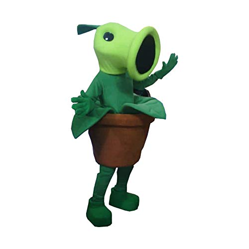 Peashooter Plants VS Zombies Mascot Costume Character Cosplay Party Birthday -