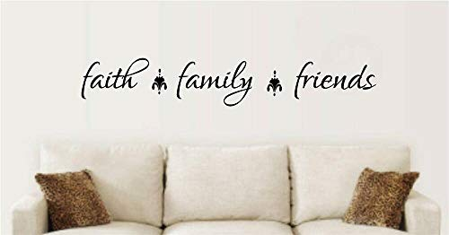 N.SunForest Faith Family Friends Vinyl Decal Wall Stickers Words Letters Quote Home Decor