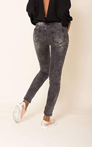 Or Femme Gris Stretch D2510 Skinny Jeans Pantalon Rayures 4EwSxS