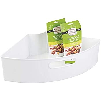 Amazon Com Idesign Plastic Lazy Susan Cabinet Storage Bin