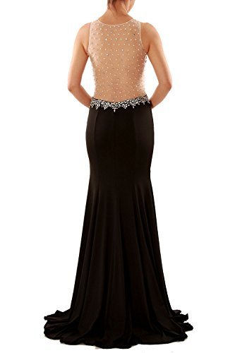 MACloth Women Mermaid Jersey Long Formal Evening Prom Gown Wedding Party Dress Gris