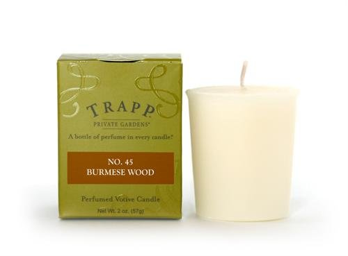 No. 45 Burmese Wood - 2oz. Votive Trapp Candle (Wood Candle Burmese)