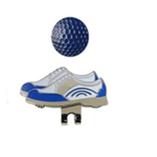 新しいゴルフ帽子クリップゴルフマーカー靴画像ゴルフファンSuppliesアクセサリー  ブルー B075GZZDKL