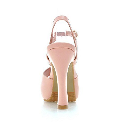 Adee Damen Schnalle High-Heels Polyurethan Sandalen, Pink - rose - Größe: 34