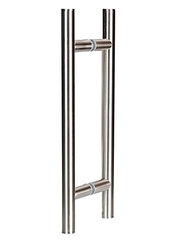 Coastal Shower Doors C5313 8n Paragon 8 Ladder Style Pull Handle Brushed Nickel Frameless Glass Showers