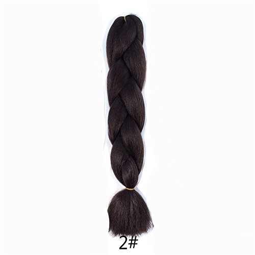 24inch Monochrome Color Big Braids