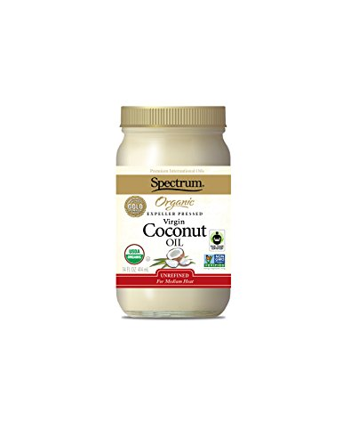 Spectrum  Coconut Oil, Organic Unrefined, 14 Ounce Tub (Pack of 3)