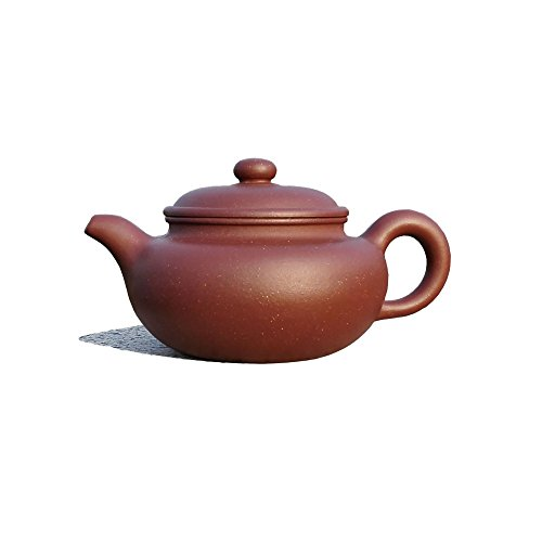 Yixing Teapot Mr Zhou Handmade Traditional Tea Pot,Nature Red Clay,400cc