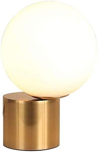 WYZXR Lámpara de Mesa Dorada Moderna, Bola de Cristal LED Lámpara ...