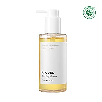 Knours. – Your Only Cleanser Oil to Foam Double Cleansing Gentle Deep Makeup Remover Face Wash for Dry Sensitive Oily Combination Skin Safe, Clean, Natural Ingredients Beauty 4.9 oz.