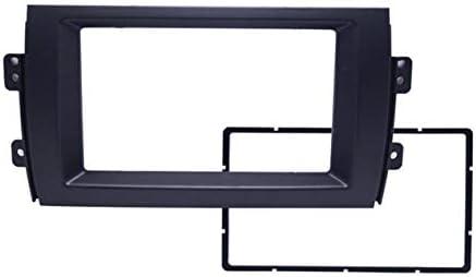 車のDVDフレームDVDパネルダッシュキットラジオオーディオフェイシアフレームの取り付け車のオーディオ2DIN変換パネル-ブラック