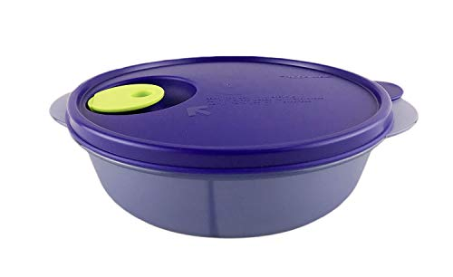 (TUPPERWARE Microwave Reheatable Blue Crystalwave Divided Dish Bowl Lunch Box)
