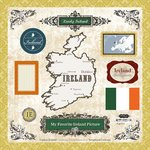 Scrapbook Customs - World Collection - 12 x 12 Laser Cut Chipboard Pieces - - Ireland Collection