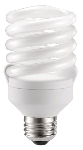 18w Compact Fluorescent Light (Philips 417089 Energy-Saver 18-Watt Twister Compact Fluorescent Light Bulb, 4-Pack)