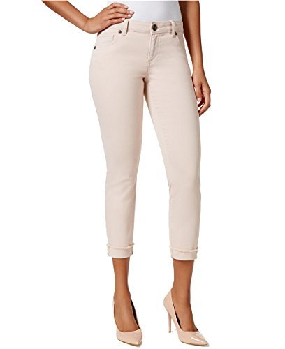 KUT from the Kloth Womens Amy Straight Leg Cropped Skinny Jeans Pink 14