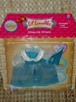 Lil Luvables Fluffy Bear Factory Dress-up Dreams Princess Outfit