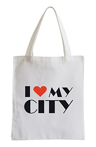 Amo la mia città Fun sacchetto di iuta