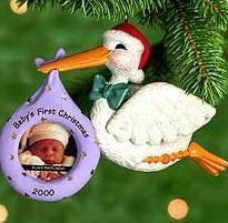 1 X Hallmark Keepsake Ornament Baby's First Christmas Photo Holder Dated 2000 by Keepsake Ornament - Dated Ball Ornament
