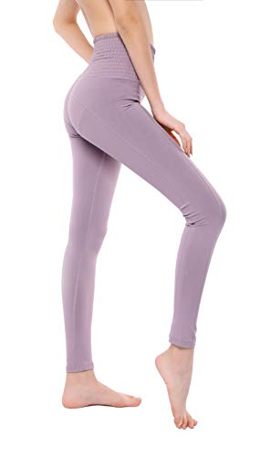 Control Fitness - VISNXGI Women's Athletic Yoga Pants High Waist Tummy Control Tight Slimming Leggings for Fitness Running Activewear (Waistflorallavender, Large)