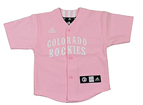 adidas MLB Colorado Rockies Pink Infant Jersey Infant (18M)