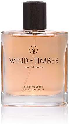 Wind & Timber Charred Amber Eau De Cologne by Tru Fragrance and Beauty - Crisp Apple, Sage, Dark Amber - Warm & Masculine Fragrance for Men in Unique Box - 1.7 oz