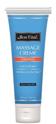 Bon Vital' Original Massage Crème for a Versatile Massage Foundation to Relax Sore Muscles & Repair Dry Skin, Revitalize Skin and Lock in Moisture, Allows for Muscle Manipulation, 8 Ounce Tube - BVORIGC8ZT