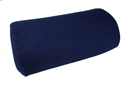 Half Moon Double Cover Foam Pillow (Navy Blue) (Cushies Foot Cushions)