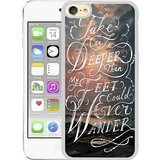 Take me deeper than my feet could ever wander Sea and clouds Bible verse White for iPod touch 6 Case