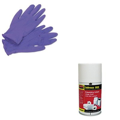 KITKIM55082RCP5159 - Value Kit - Rubbermaid-Sebreeze 9000 Can Country (RCP5159) and KIMBERLY CLARK PURPLE NITRILE Exam Gloves (KIM55082)