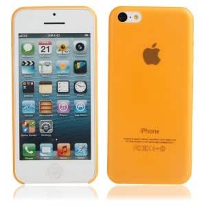 Ultra-thin ( 0.35mm ) Frosted Protective PC Case for iPhone 5C Orange