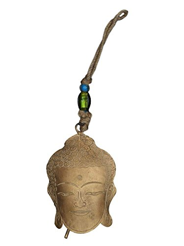 Price comparison product image storeindya Home Decor Metal Wind Chime Indoor & Outdoor Aesthetic Accessory Christmas Housewarming Ideas (Buddha Wind Chime)