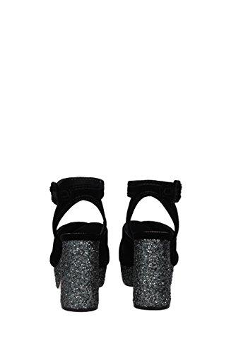 Miu Noir Sandales Femme Miu pour AAHq4T0B