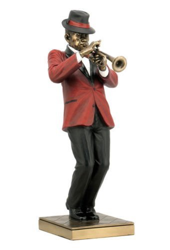 Band Collection Clarinet - Trumpet Player Statue Sculpture Figurine - Jazz Band Collection