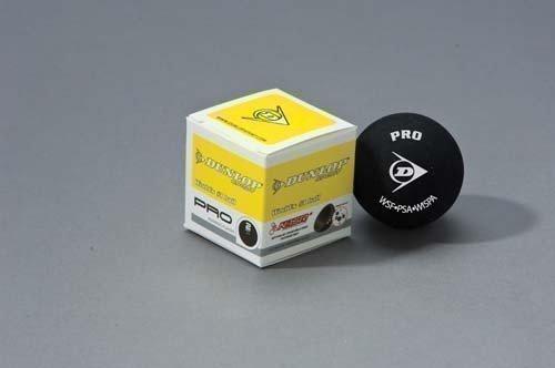 Dunlop Pro Squash Ball-Balles d'entraînement d'entraînement de qualité Match-Noir-Lot de 12